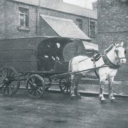 a disinfecting van in Dublin in 1911