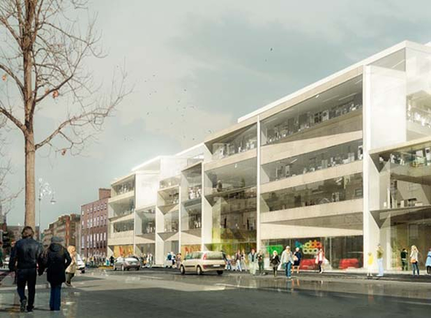 3xn losing design for the proposed new ESB HQ on Fitzwilliam Street Lower in Dublin City
