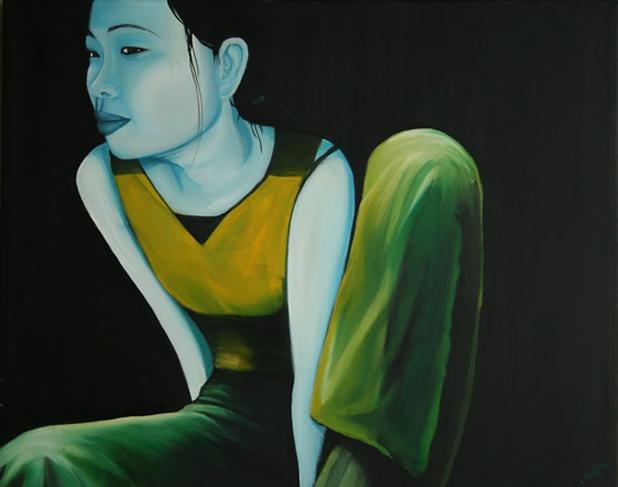 Painting by Shane Sutton - artist exhibition, Dublin 2010