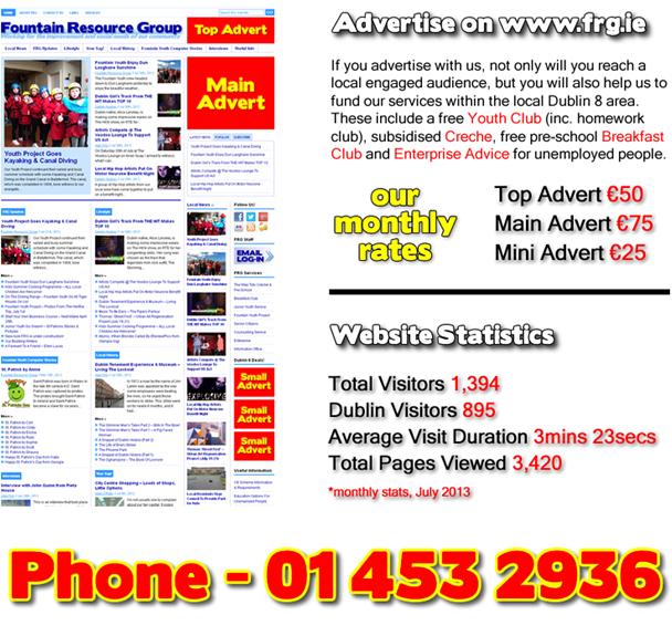 Advertise on Dublin 8 website