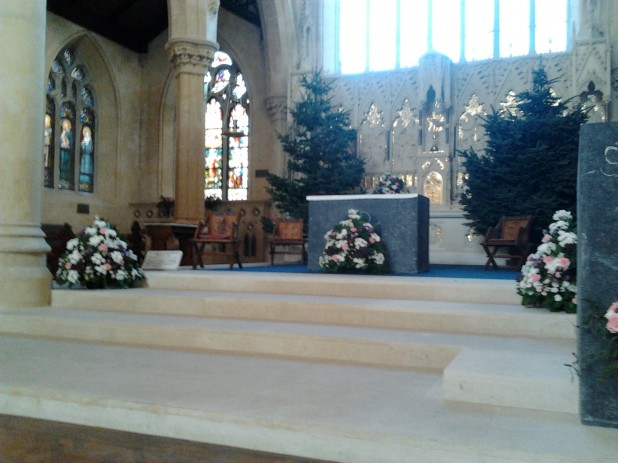 The Refurbished Altar of St. Catherine's Church on Meath Street in Dublin 8