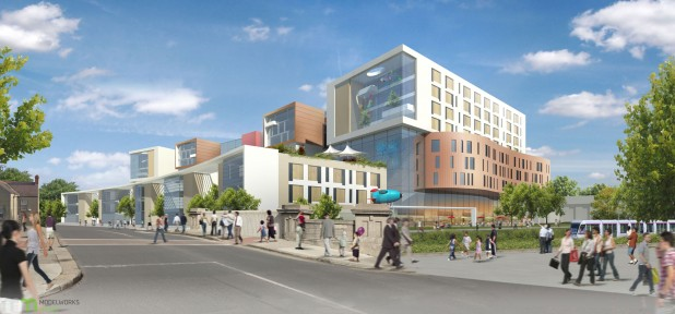 Artists Impression of Proposed Irish National Childrens and Maternity Hospital at St James's Campus, Dublin 8