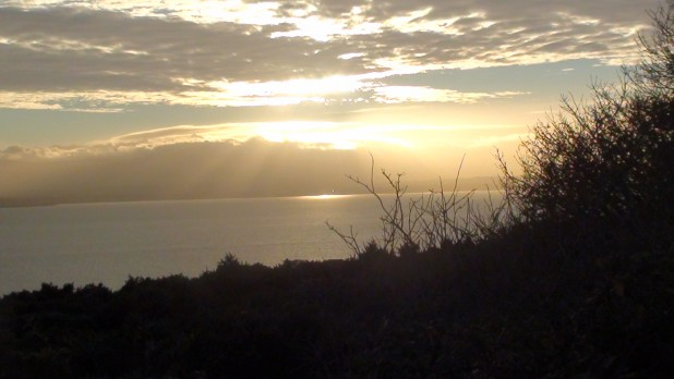 Beautiful View Of Sunset Above Irish Sea From Howth Head