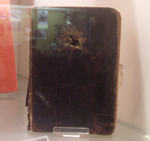 Bible with Bullethole
