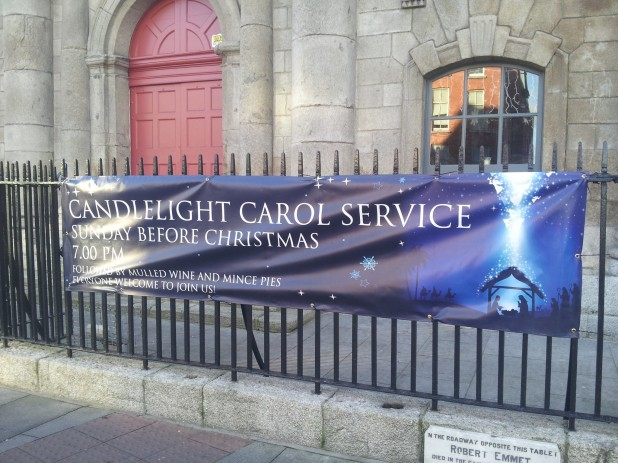 Carol Service at St. Catherines Church on Thomas Street in Dublin 8
