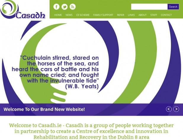Casadh Website Screenshot