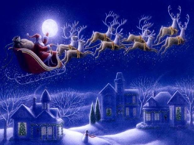 Christmas Eve Santa Sleigh
