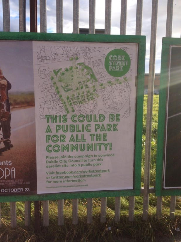 Posters for Chamber Street/Cork Street Park Campaign