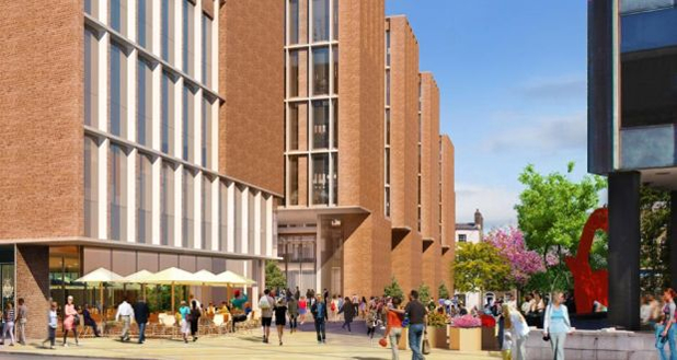 Winning design for the proposed new ESB HQ on Fitzwilliam Street Lower in Dublin City