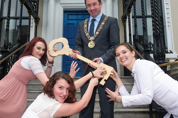 Dublin Lord Mayor Oisin Quinn launching Keys To The City Competition 2013
