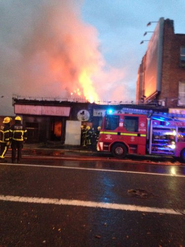 Fire at John Lynchs Pub, Thomas Street Dublin 2013