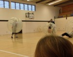 Fountain Youth Project Playing Football Zorbing Game