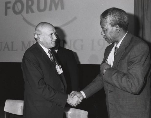 Frederik de Klerk & Nelson Mandela, 1992