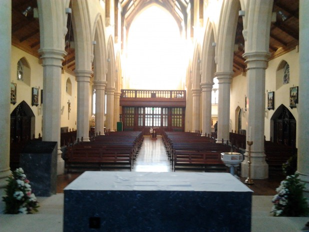 Beautiful view from the altar inside St. Catherines Church, Meath Street, Dublin 8