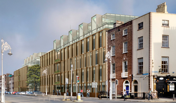 Gilroy Mc Mahon losing design for the proposed new ESB HQ on Fitzwilliam Street Lower in Dublin City