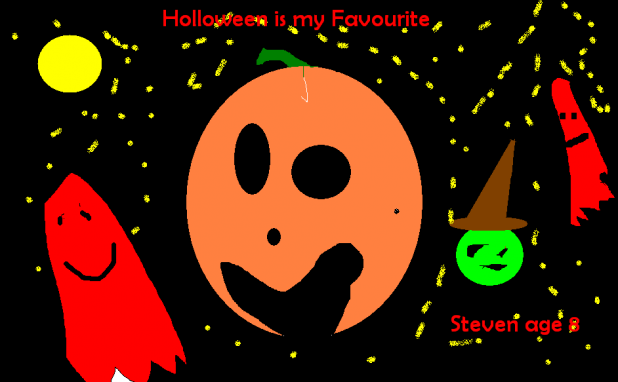 Halloween Greetings Image, by the Junior Youth Project