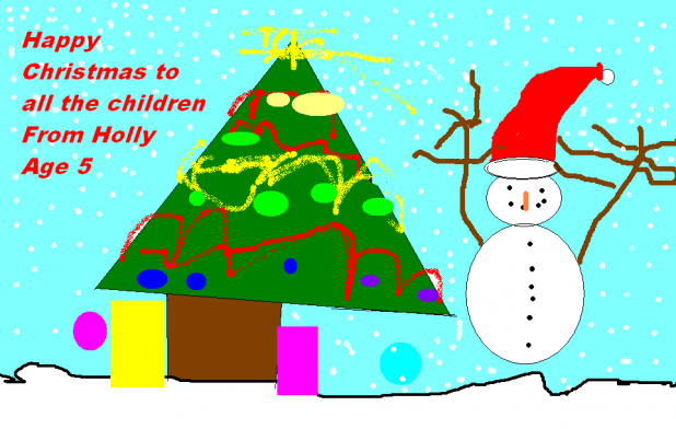 Christmas Greetings, via art, from the Junior Youth's!