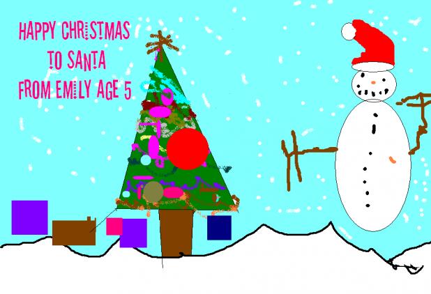 Happy Christmas To Santa, from Emily