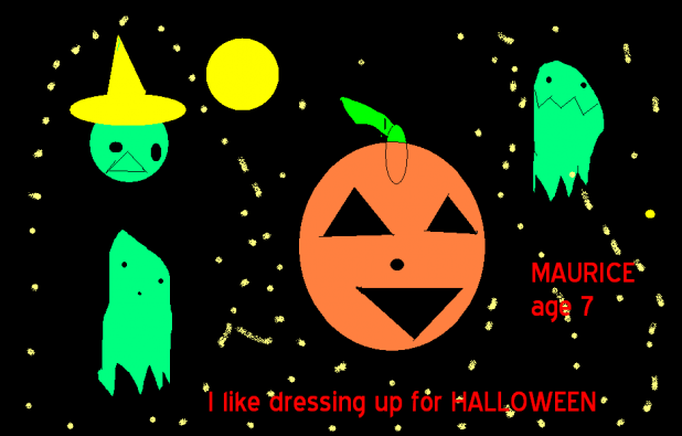 I Like Dressing Up For Halloween by Maurice - youth club art picture