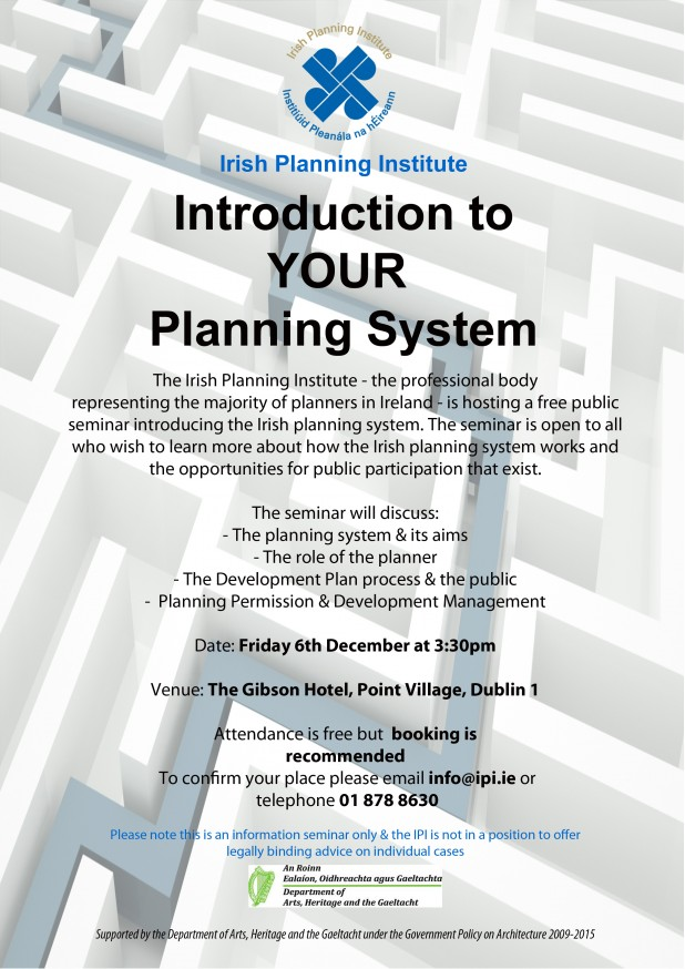 Introduction to the Irish Planning System - Seminar in Dublin 2013