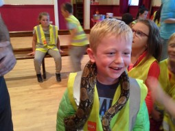 Lad with snake 3