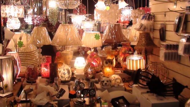 Lamps at the Liberty Market, Dublin 8