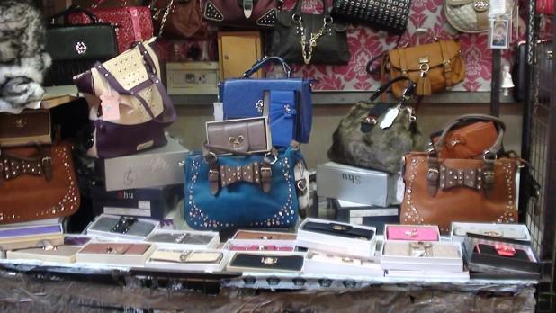 Womens Handbags at the Liberty Market, Dublin 8