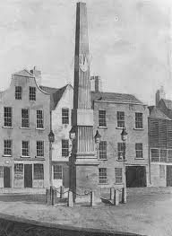 old historical picture of the Fountain on James's Street in Dublin