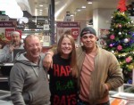 Love Hate stars Stephen O'Brien and Aaron Heffernan and Superquinn manager Maria McDaid