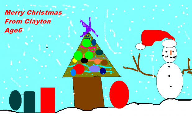 Merry Christmas, from Clayton