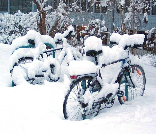 Mountain Bikes - Bicycles In Snow