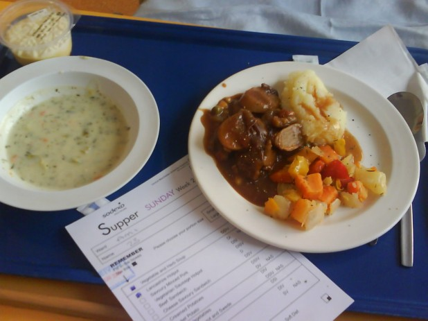 Pre-Prepared Steamed NHS Hospital Meal