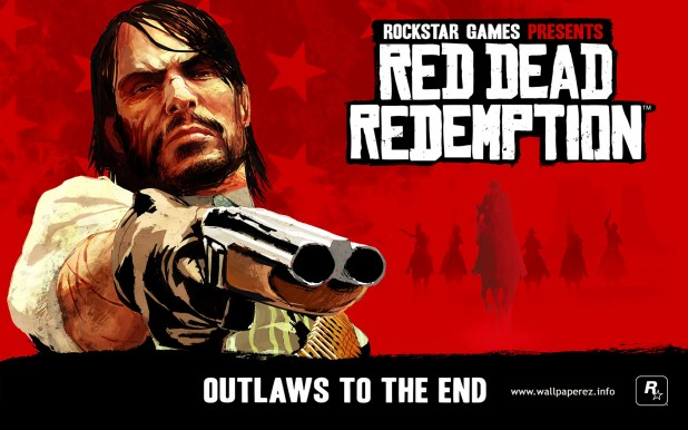 Red Dead Redemption - computer game poster