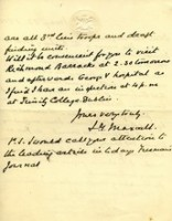 Richmond Barrak old letter