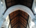 Refurbished Interior Roof in St. Catherine's Church on Meath Street, Dublin 8
