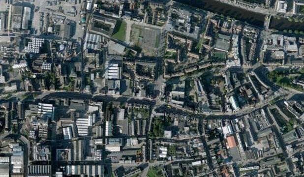 Satelitte view of Thomas Street and James' Street, Dublin 8