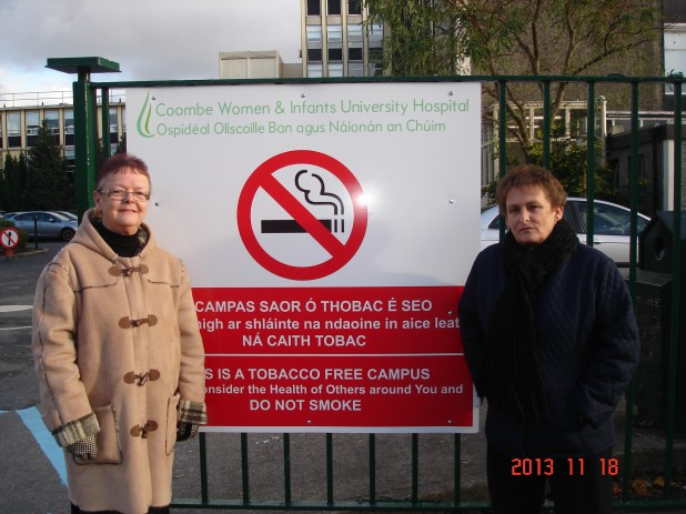 Smoking has been banned inside the Coombe Hospital grounds