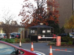 The smoking sheds are closed off at the Coombe Hospital in Dublin 8