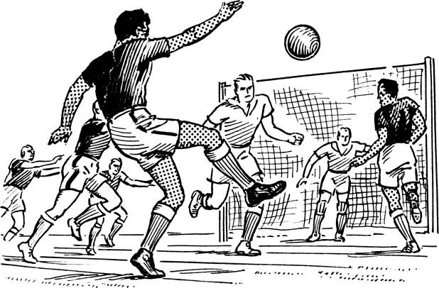 Soccer/Football Match Cartoon (Generic Image) Public Domain