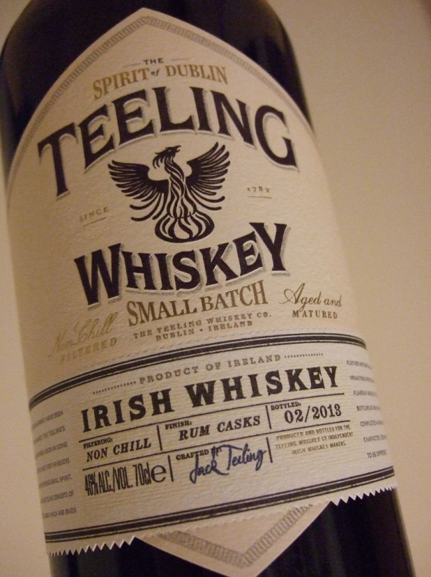 Bottle of Teeling Irish Whiskey