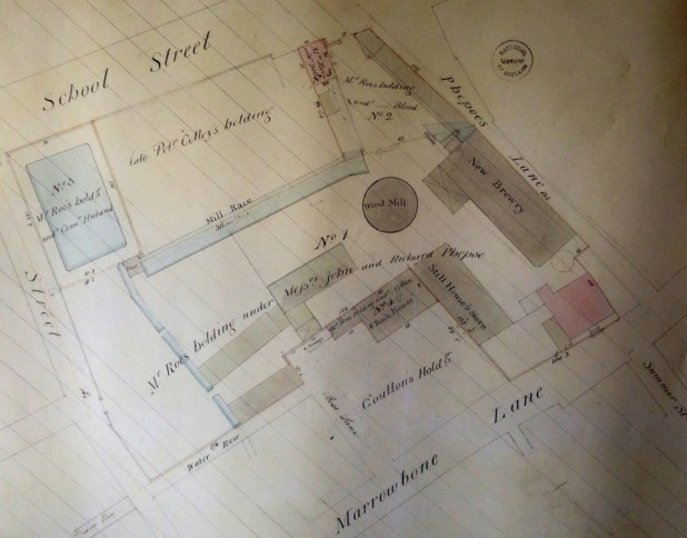 Teeling Whiskey Distillery, Historical Map of School Street, Marrowbone Lane, Dublin 8