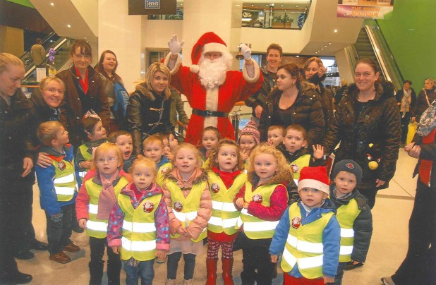 The Wee Tots Visit Santa At Jervis Shopping Centre