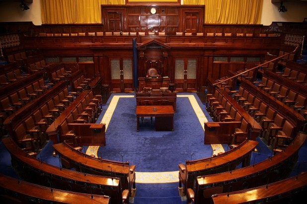 The Dail Chamber - Irish main house of parliament