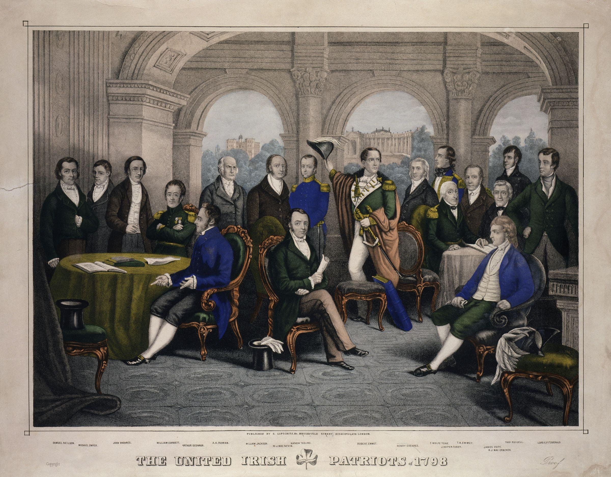 The Society of United Irishmen – patriots of 1798