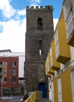 The_tower_of_the_former_St_George's_Church,_Hill_Street