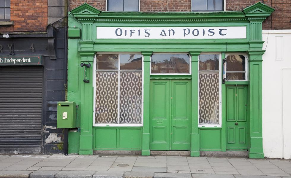 Traditional irish post office oifig an poist on usher quay dublin 8 - Irish times office dublin ...