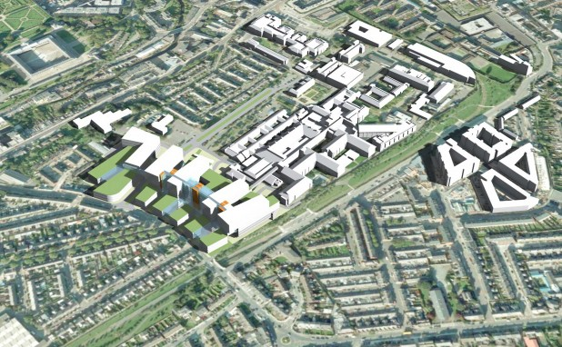View of Proposed National Paediatric Hospital Ireland at St James's Hospital, Dublin 8