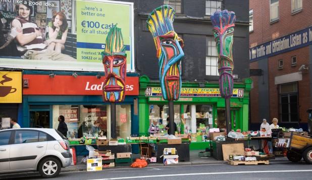 View of Thomas Street Dublin Shopfronts