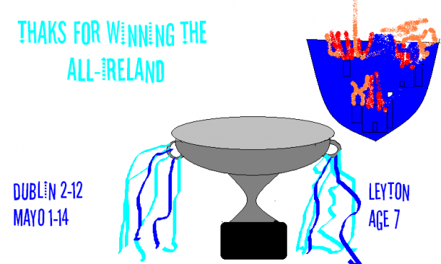 Well Done to the Dubs for winning the All Ireland - by Leyton