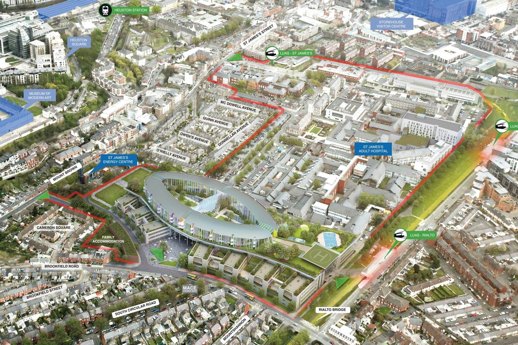 Overview of the planned Development